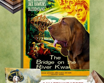 Bloodhound Vintage Movie Style Poster Canvas Print  - The Bridge on the River Kwai Movie Poster