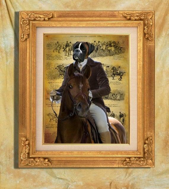 Boxer Dog Print Art Print 11 x 14 inch original illustration artwork giclee archival premium poster print