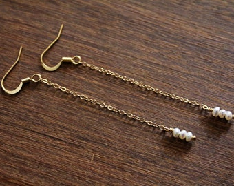 Freshwater Pearl Chain Drops