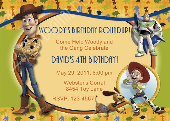 Toy Story Birthday Invitation Woody, Buzz Lightyear and Jesse Photo Option Customizable Printable