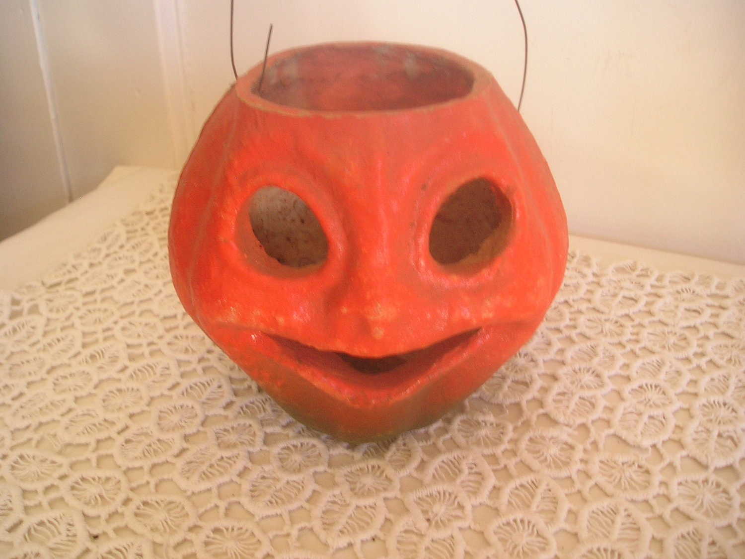 Vintage paper mache jack o 39 lantern by debscollectibles on for Papier mache lanterns