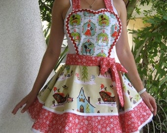 Alpine Wonderland Christmas Apron