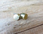 Minimalist Earrings Brass Stud Earrings Minimalist Jewelry Design