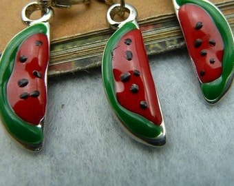 3pcs 7x21mm The Watermelon Pendant Charm For Jewelry Necklace Charms Pendants E5