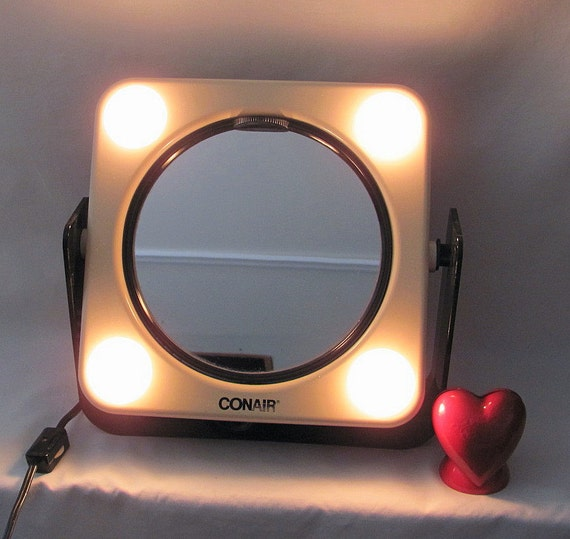 Vintage 1980 Conair Makeup Mirror Swivels With Regular And