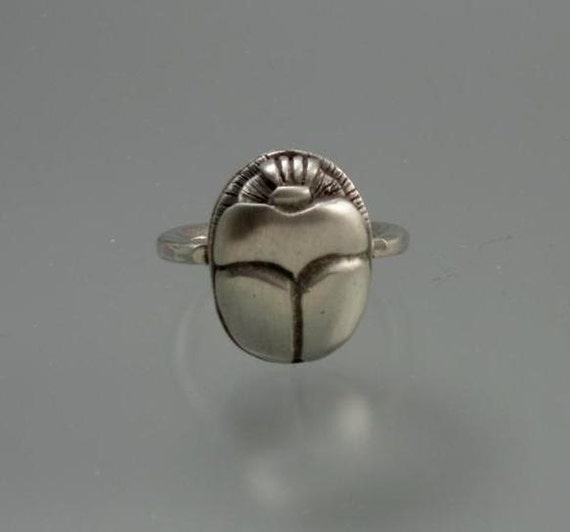 scarab ring sterling silver by ehrhardtstudios on etsy