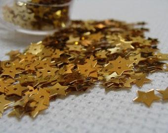 Sequins Stars Gold Paillettes