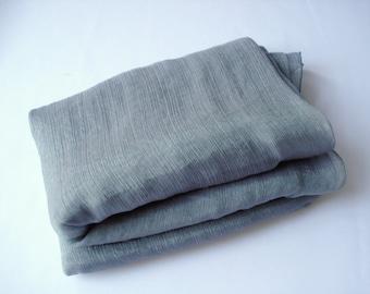 Light grey scarf, light gray scarf, long grey scarf, light pale grey scarf, long scarf, light fabric scarf, light gray scarf, women scarf