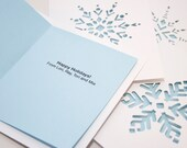 Customizable Holiday Cards, Custom Message Card Set with Snowflakes
