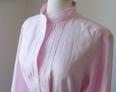 Pink Linen Womens Shirt Custom Made for You