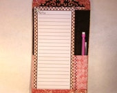 Shopping List Magnetic Holder w/Pencil
