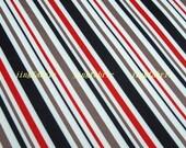 "W180A - Vinyl Waterproof Fabric - Colors Stripe  - 27""x19""(70cmX50cm)"