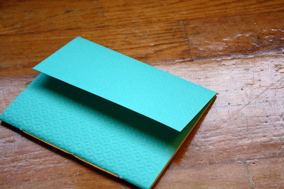 Turquoise Jotter with Diamond embossment