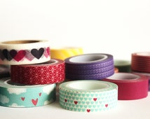 Choose Any 16 Washi Tapes or Oil Paper Tapes, 20% off, BULK WASHI TAPE