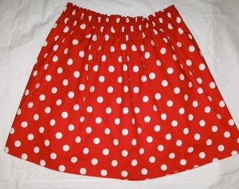 Red polka dot skirt | Etsy