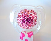 THE AVRIL- Pink Ombre Swarovski Crystal Pacifier