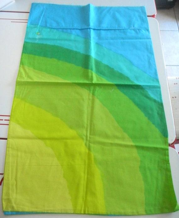 Vintage Vera Neumann Pillowcases King-Abstract Rainbow-Unused-Fabric