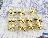100Pcs 12mm GOLD STAR Studs Metal Studs (JS12)