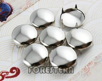 50Pcs 15mm Silver Round Studs Big Metal Studs (SR15)