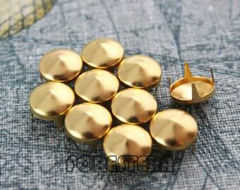 50Pcs 10mm Gold CONE Studs Metal Studs (JC10)