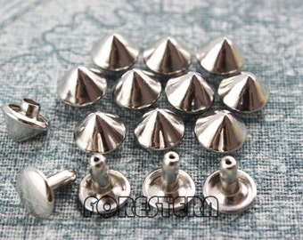 400Pcs 9mm Silver Conical Rapid Rivet Studs (SC-RI09)