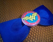 Comic Book Series - Wonder Woman - Blue Hair Bow