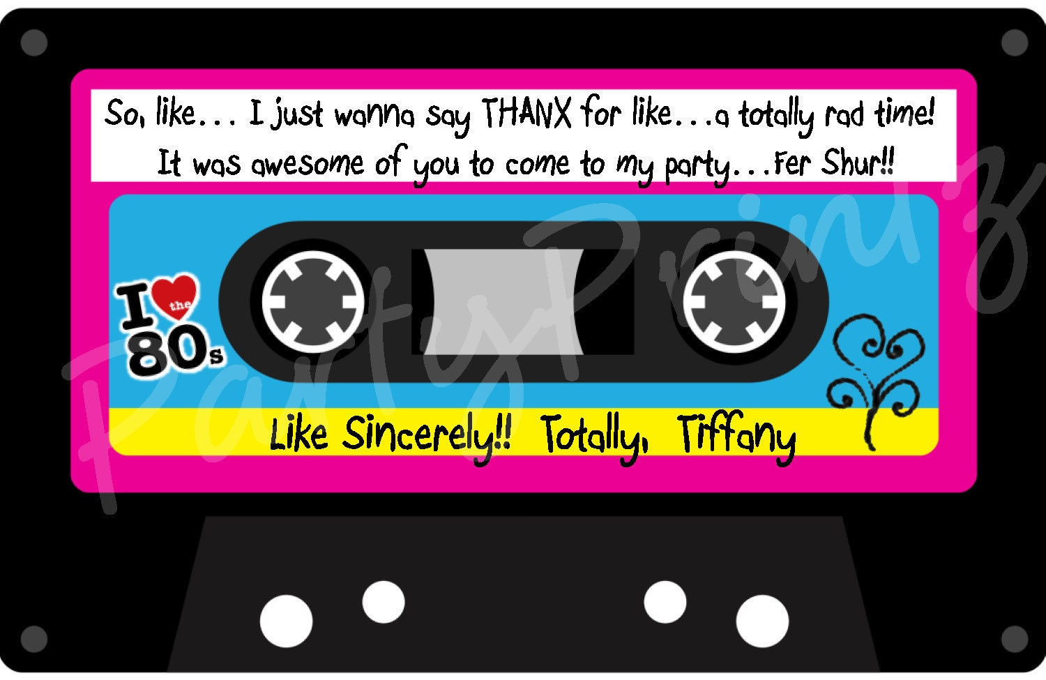 Cassette Tape Invitation for awesome invitation example