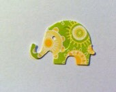50 Yellow and Green Design MODERN ELEPHANT DECOR  Baby Shower Confetti, Birthday party decorations,Invitations,scrapbooking, cards