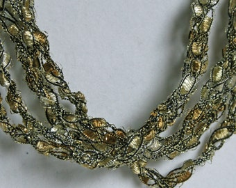 Gold Dust - Crocheted Necklace