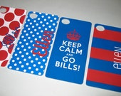 NFL Buffalo Bills Personalized iPhone 4/4S Inserts Covers (Set of 4)