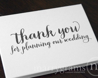 Wedding Card to Your Wedding Planner or Coordinator -- Thank You for Planning Our Wedding - Wedding Vendor Note Card CS02