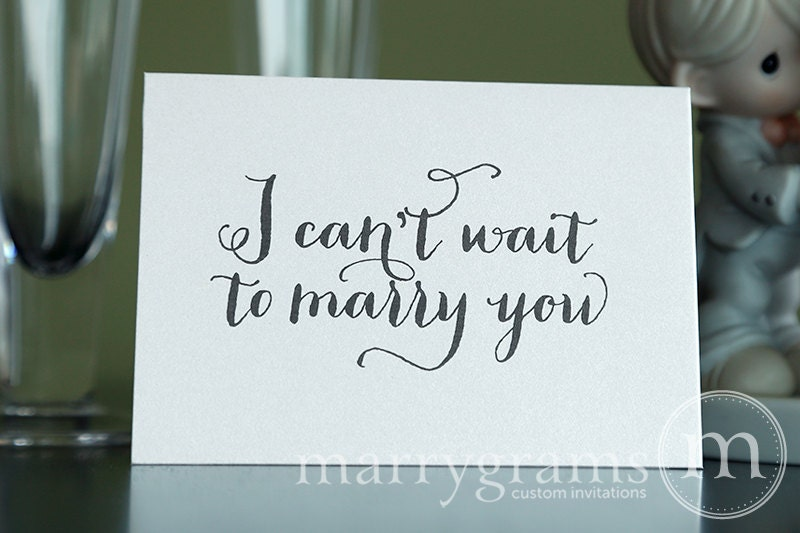 Gifts For Bride On Wedding Day From Bridesmaid: Wedding Card To Your Bride Or Groom I Can't Wait To