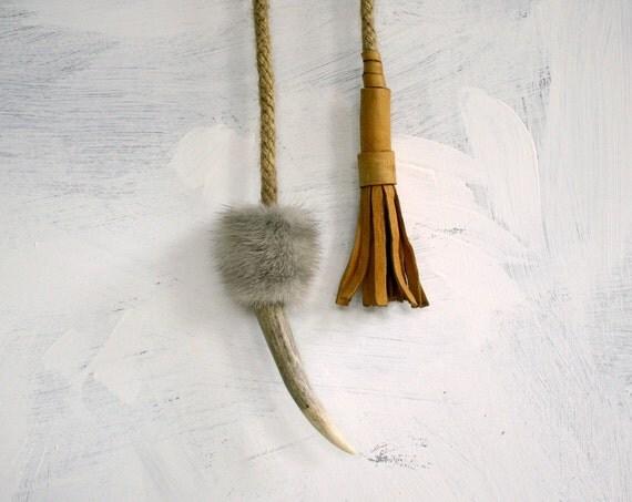 Unisex Tribal Lariat Necklace