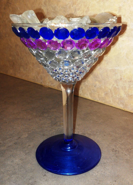 Decorative martini glass candle holder by creativevizion