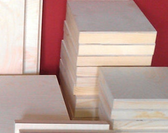"Two-pack  10"" X 10""  Artist Wood Painting Panels Deep cradle"