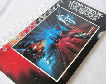 Upcycled Notebook/Recycled Notebook from a Star Trek III: The Search for Spock VHS box, 50 sheets/100 pages