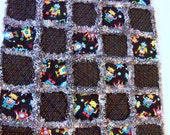 Rag Quilt Robots Colorful Bear Doll Baby Security Blanket