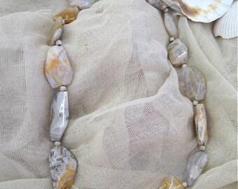 Crazy Lace Agate Necklace