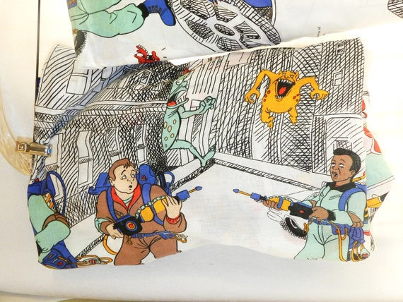 Vintage 1980s Ghost Busters Sheet Set - Twin