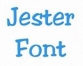 Jester Machine Embroidery Font Alphabet - 3 Sizes