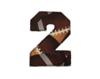 Zig Zag Edge College Varsity Applique Numbers Machine Embroidery Design - 6 Sizes