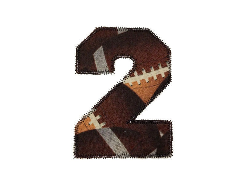 Zig zag edge college varsity applique numbers machine