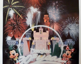 1985 Disneyland 30th Anniversary.  Charles Boyer Autographed Pencil Signed and Numbered Lithograph Print.  COA 10582 of 24500.