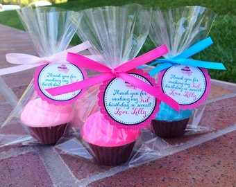 70 CUPCAKE SOAPS {Favors} - Birthday Party Favor, Cupcake Soap Favor, Wedding Cake Favor, Cupcake Birthday Theme