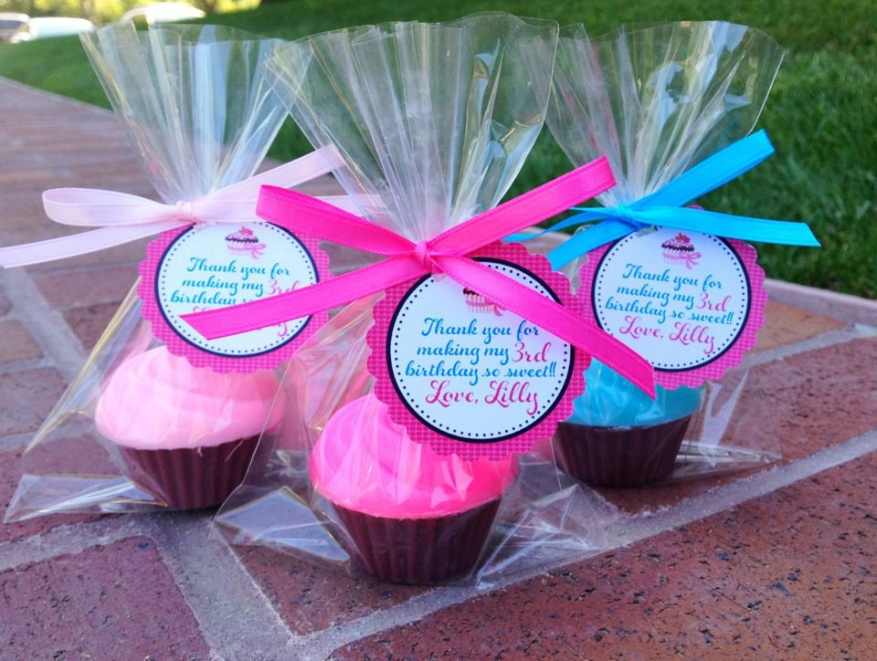 25 Cupcake Soaps Favors Birthday Party Favor By