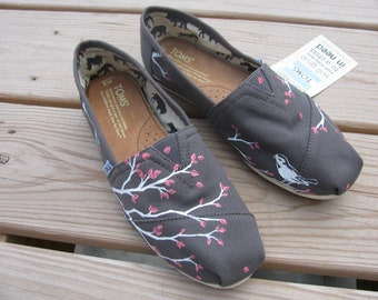 Custom TOMS - Handpainted Design on Shoes- Shoes included in Purchase