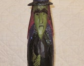 Hand Carved Halloween Witch