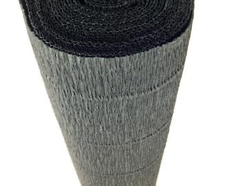 Italian Crepe Paper roll 180 gram  -  602 BLACK