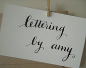 Calligraphy Deposit for AMY