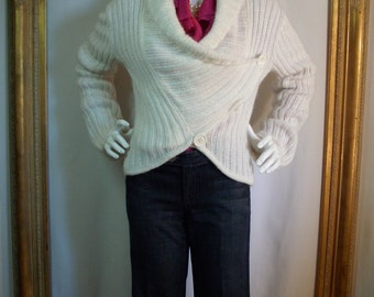 CLEARANCE Vintage 1980's Emporio Armani White Sweater - Size 10